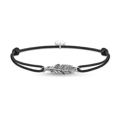 Armband Little Secret Feder aus Textil und 925er Silber