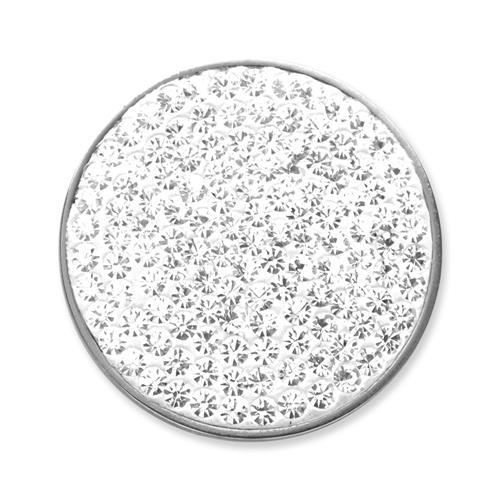 Münze für Münzanhänger weiß MA0036