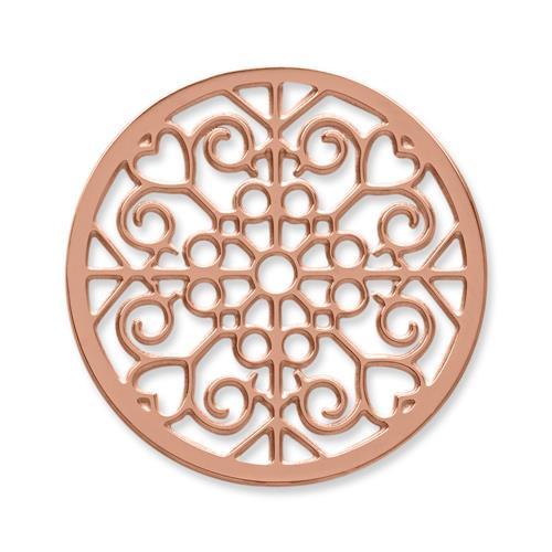 Münze Edelstahl Herzen Ornamente roségold MA0083