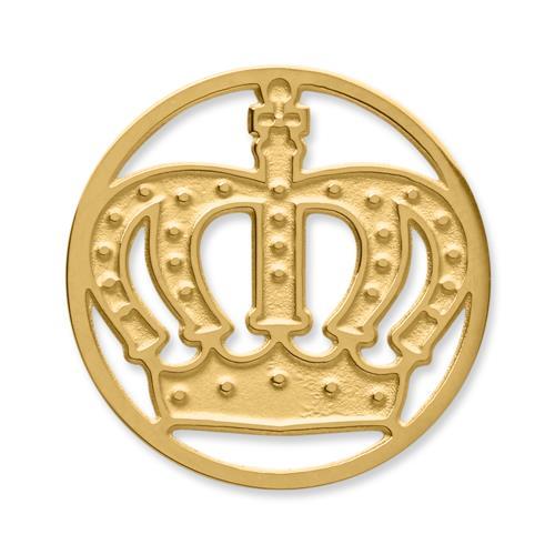 Münze Edelstahl Krone gelbgold