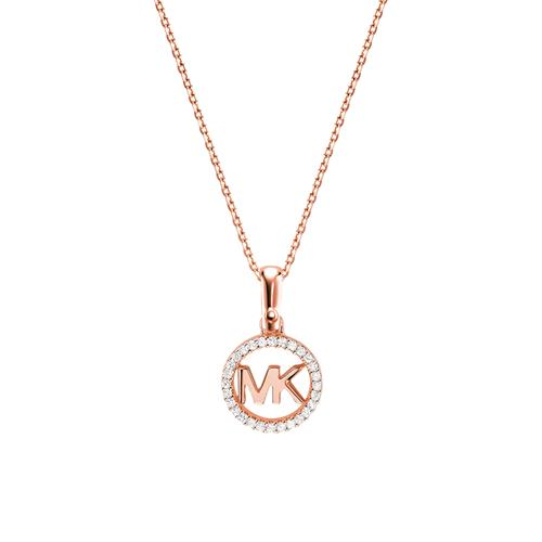 Anchor chain in rose gold-plated 925 silver Zirconia
