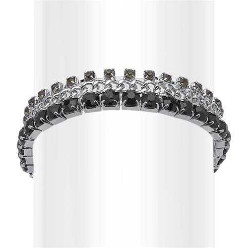 Modeschmuck armband  Armband Modeschmuck mit schwarzen Steinen