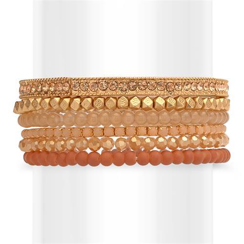 Armbänder Set Modeschmuck Damen rosé gold