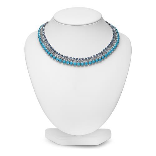 Damen Halskette mit türkisen Steinen
