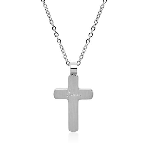 Gravierbare Kreuzkette aus Edelstahl