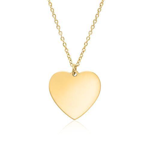 Kette Herz aus vergoldetem Edelstahl