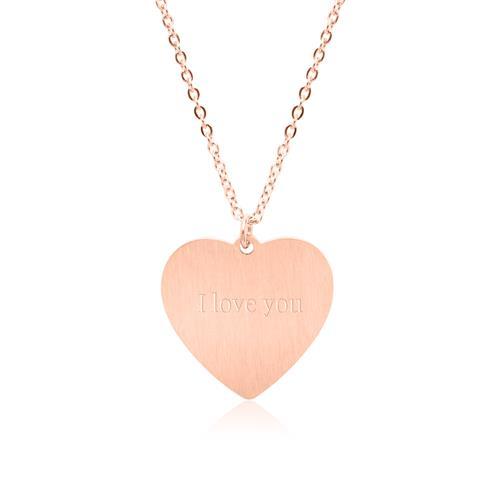 Herzkette aus Edelstahl rosévergoldet