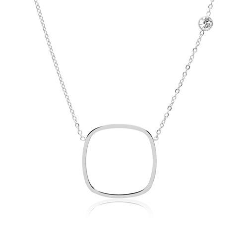Ketten - Halskette aus Edelstahl mit Zirkonia  - Onlineshop The Jeweller
