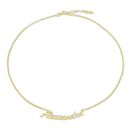 Namensfußkette vergoldet individuelle Fußkette