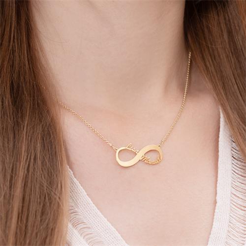Infinity Kette 925er Silber vergoldet