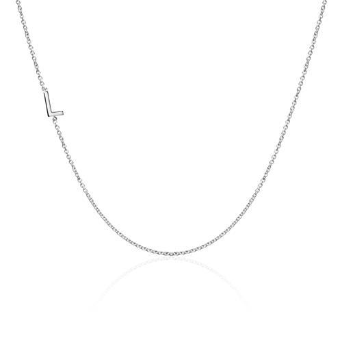 Halskette Buchstabe für Damen aus 585er Weißgold