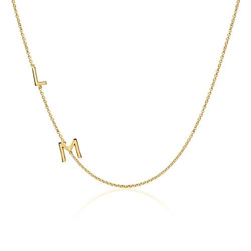 14K Goldkette Buchstaben für Damen