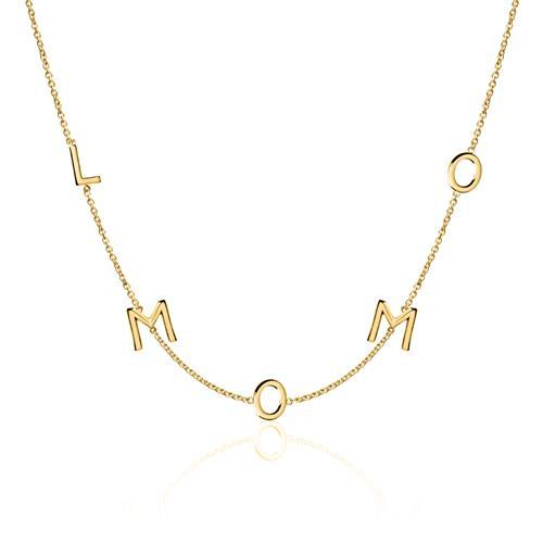 Artikel klicken und genauer betrachten! - Personalisierbare Kette für Damen aus 14K Gold | im Online Shop kaufen