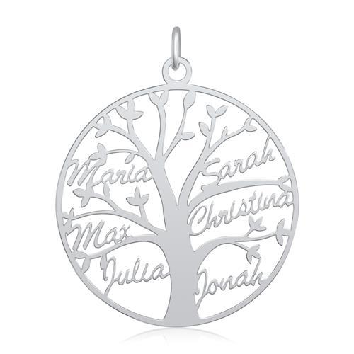 Lebensbaum Namenskette aus Sterlingsilber