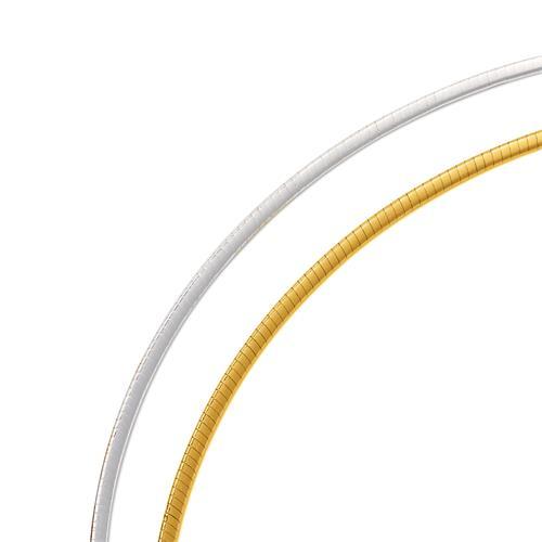 Halsreif 925 Silber silberne und gelbgoldene Seite