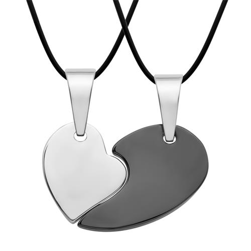 Kautschukketten mit Partneranhängern Herz