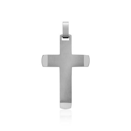 Kette inklusive Kreuz-Anhänger Edelstahl