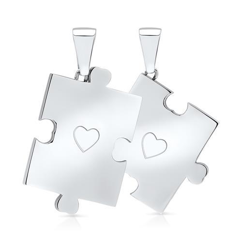 Kette mit Partneranhängern Puzzle gravierbar