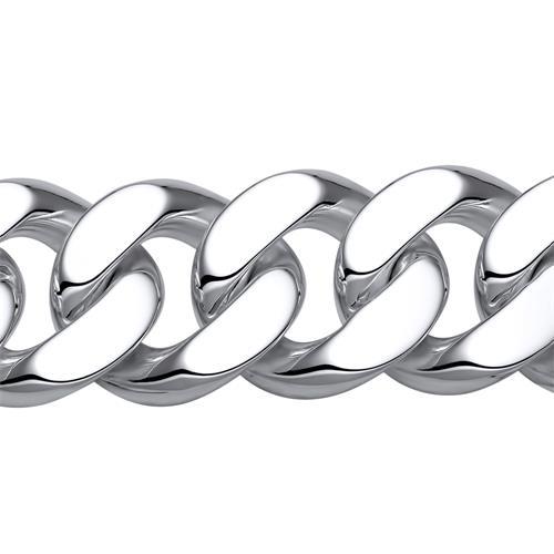 925 Silberarmband: Panzerarmband Silber 23mm