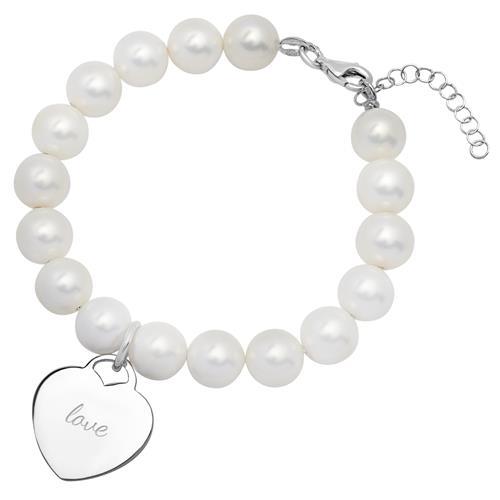 Perlenarmband mit Herzanhänger