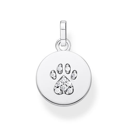 Coin Anhänger Katzen Pfote aus 925er Silber Zirkonia