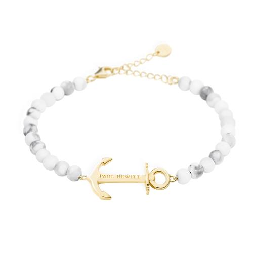 Damen Armband Anchor Spirit Marble vergoldet