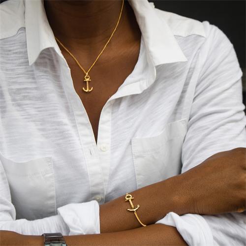 Kette Anchor 925er Silber gold