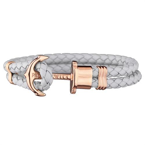 Phrep Leder Armband Grau mit Rosé