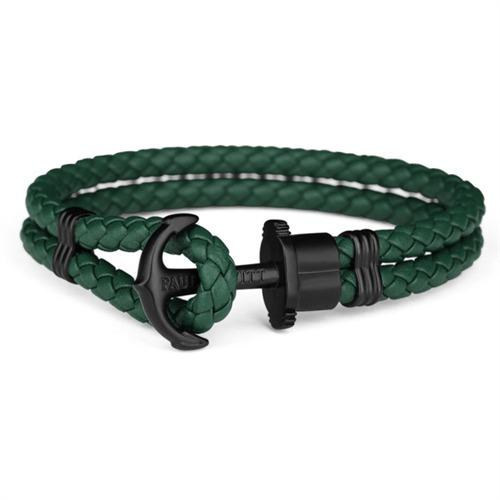 PHREP-Lederarmband grün/schwarz