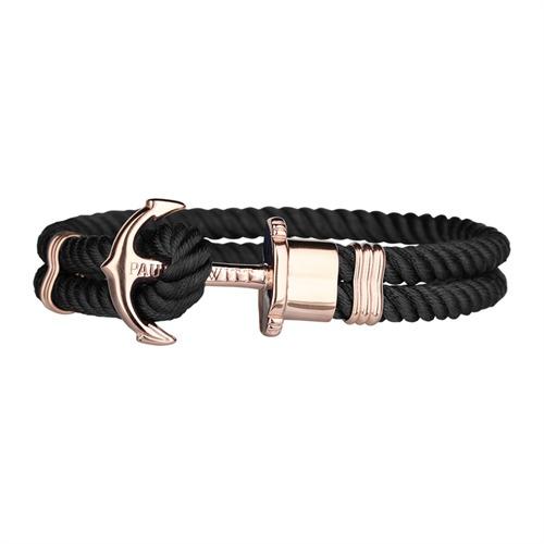 Nylon Armband schwarz rosé