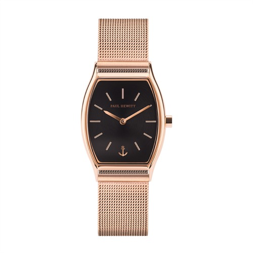 Uhr Modern Edge Line für Damen Meshband IP Roségold