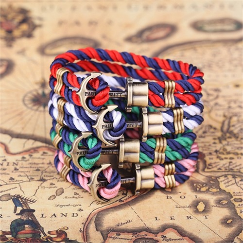Phrep Anker Armband Blau-Rosa