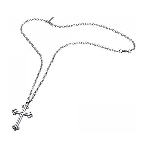 Herrenkette Doolin mit Kreuzanhänger aus Edelstahl