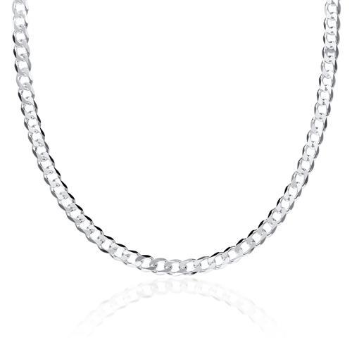 925 Silberkette: Panzerkette Silber 4,5mm