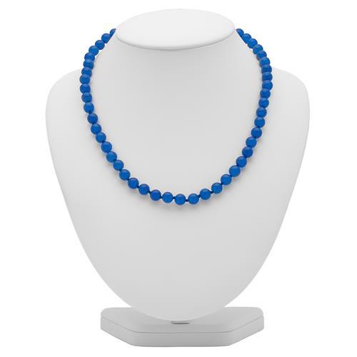 Perlenkette aus blau-gefärbter Jade