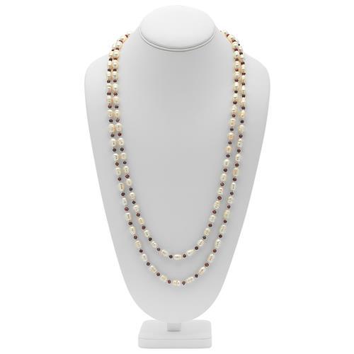 Hochwertige Halskette aus Süßwasserperlen