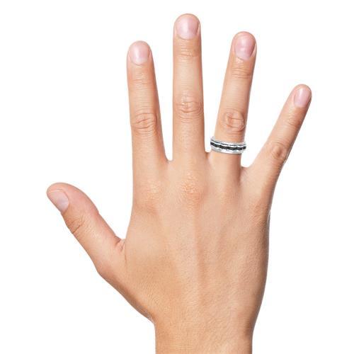 Moderner Ring Edelstahl mit drehbarem Einsatz