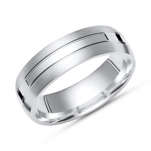 Ringe - Moderner Ring 925 Silber mit Glanzschiene 6mm  - Onlineshop The Jeweller
