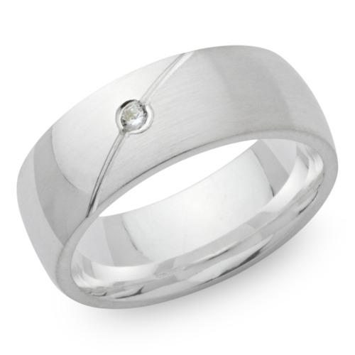 Ring 925er Silber mit Zirkonia in 6,5mm