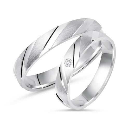Eheringe silber  Eheringe Silber Trauringe 925 Gravur Zirkonia R8509s