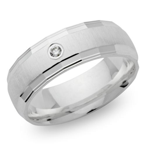 Ring Silber Zirkonia Kanten poliert 6,5 mm