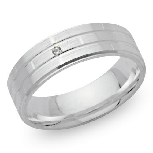 925 Silber Ring mit Zirkonia 6 mm breit