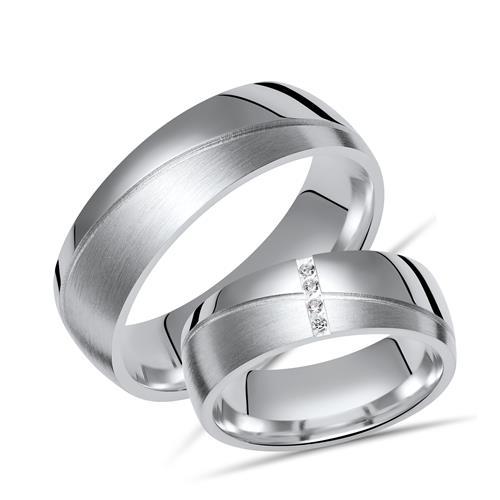 Eheringe silber  Eheringe Silber Trauringe 925 Gravur Zirkonia R8534s