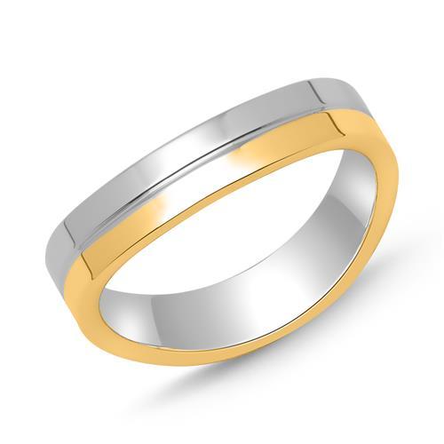 Ring für Herren 925er Silber teilvergoldet
