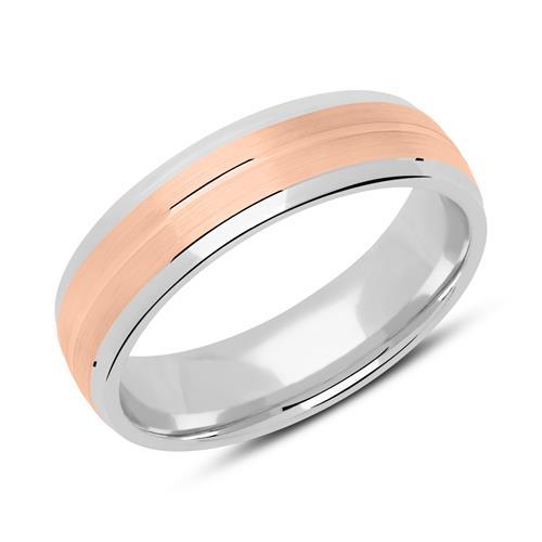 Ring für Herren 925er Silber bicolor