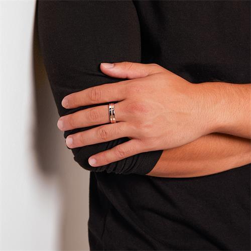 Ring für Herren aus 925er Silber rosé