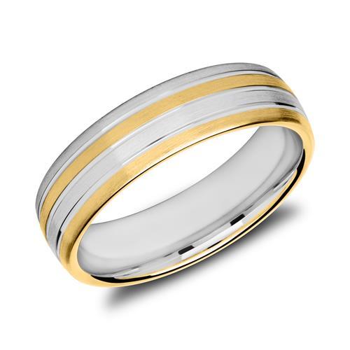 Herrenring aus teilvergoldetem 925er Silber