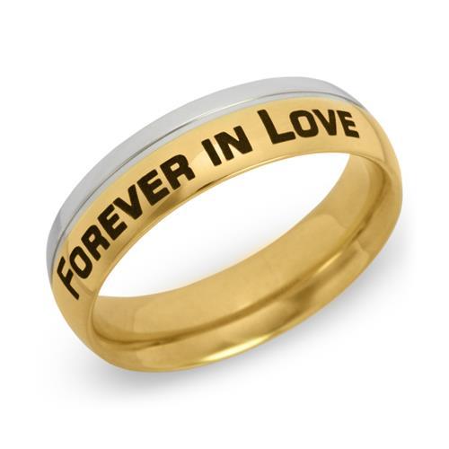 Ring Edelstahl vergoldet inkl. Lasergravur