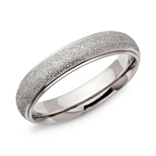 Diamantierter Edelstahlring 5mm breit
