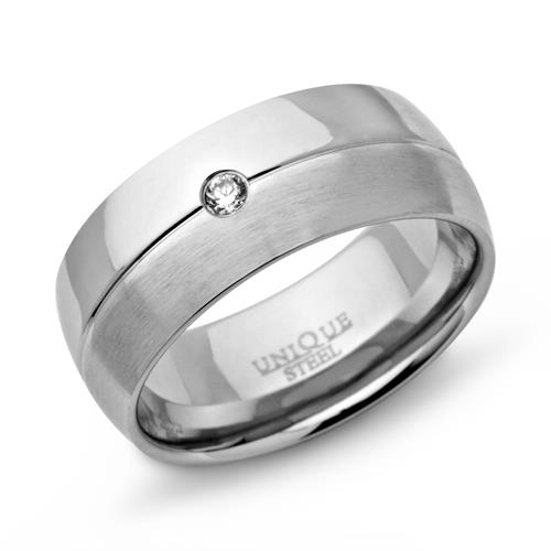 Top Ring Edelstahl in matt/poliert Zirkonia R9103cz